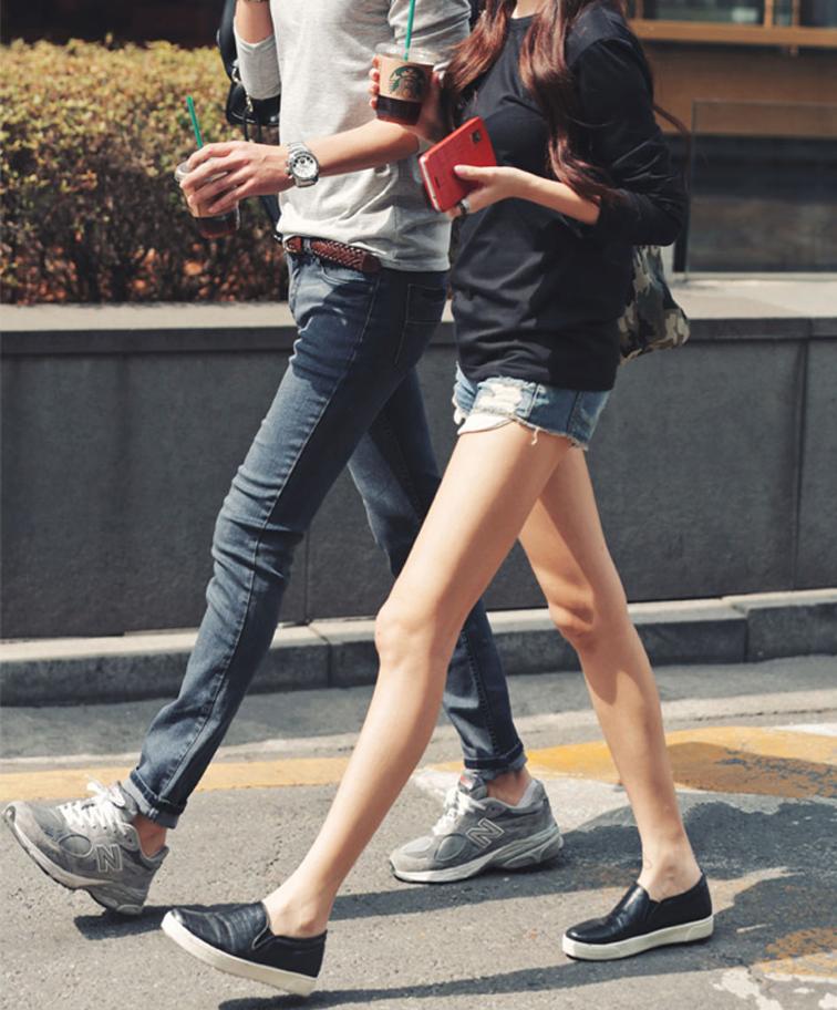 Stylish couple, his & hers, cool kids, denim