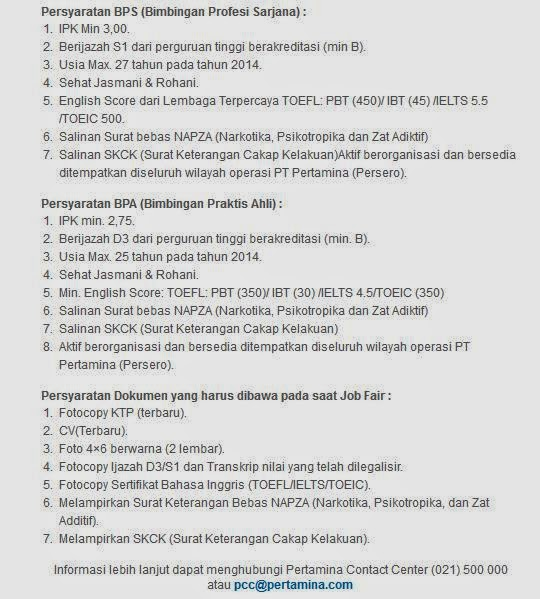 job-fair-loker-pertamina-yogyakarta-terbaru-mei-2014