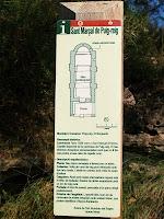 Placa informativa de la capella de Sant Marçal de Puig-reig