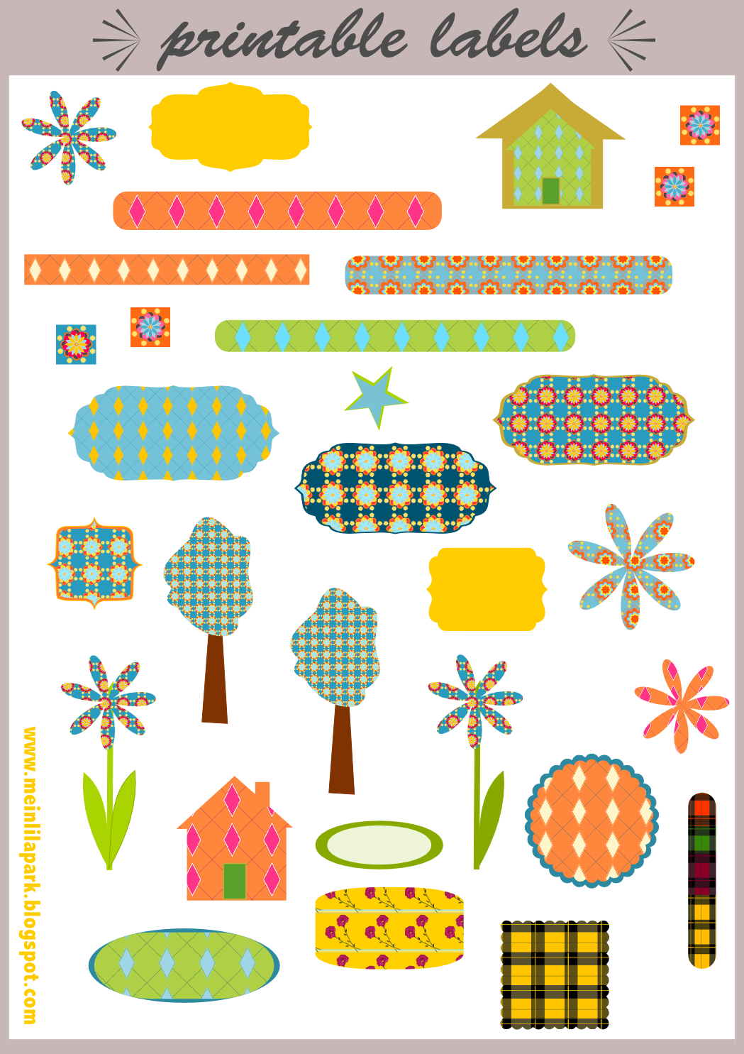 Amazing image within free printable stickers for scrapbooking