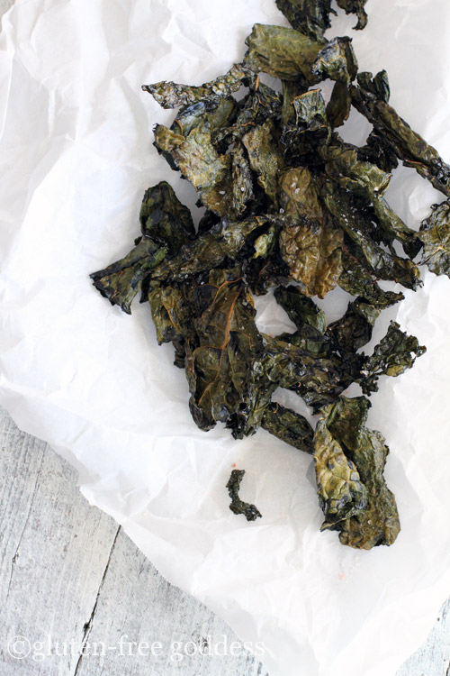 Easy Crispy Kale Chips- perfect for a gluten-free diet.
