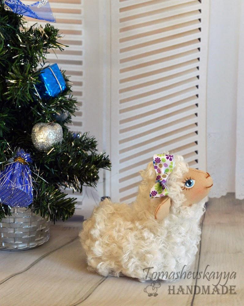Картинка овечка Новый год