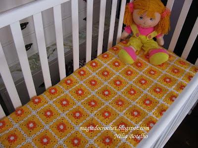 Colchas Em Crochet Para Beb    Modelo Malmequer