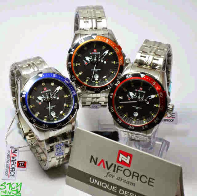 Naviforce 9029 SS Original list biru,merah,orange