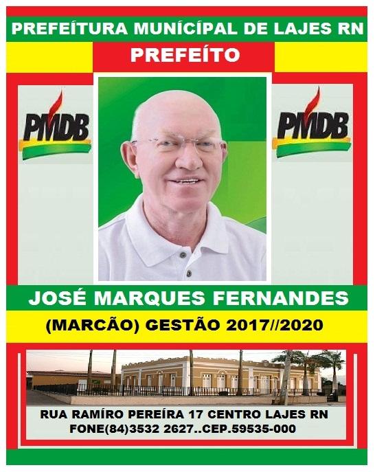 PREFEITO JOSÉ MARQUES FERNANDES LAJES RN