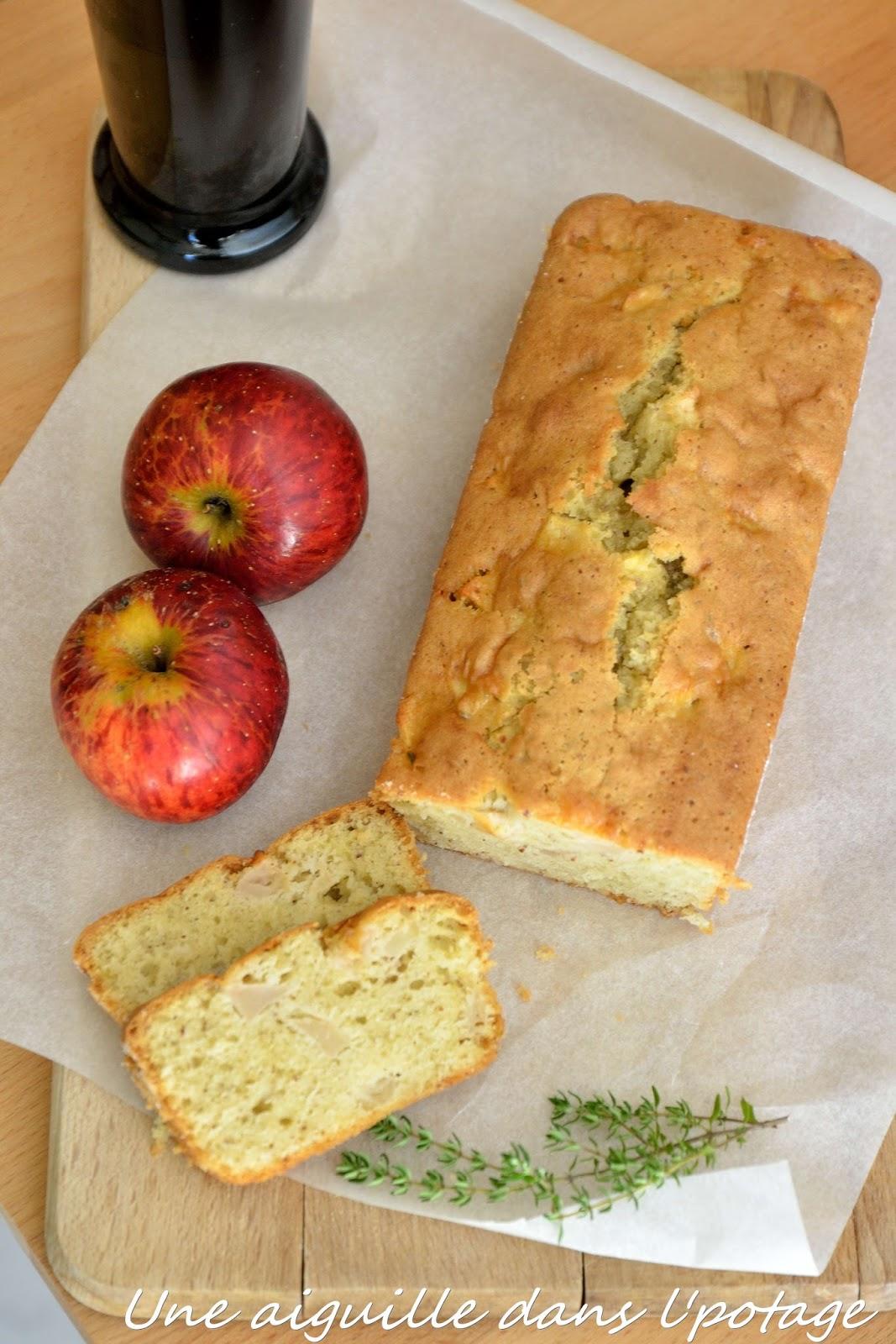 Une aiguille dans l 39 potage cake aux pommes huile d 39 olive et thym - Quand ramasser le thym ...