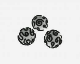 Black on White Filigree Polymer Clay Beads Available now from Big Bead Little Bead, handmade by Lottie Of London