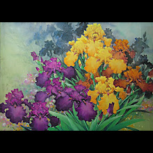 """Golden Iris"", 32""x40"" mat, 22""x30"" image. $2,500.00 (sold 2011)"