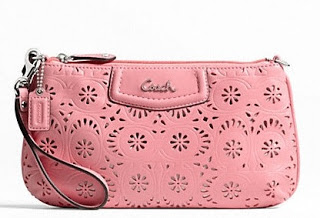 COACH Ashley Lace Leather Large Wristlet 48807