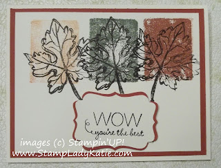 Fall card made with Stampin'UP!'s Gently Falling Stamp set and the Acrylic Block Technique