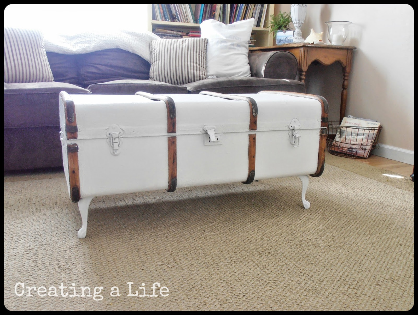 Captivating Vintage Trunk Coffee Table