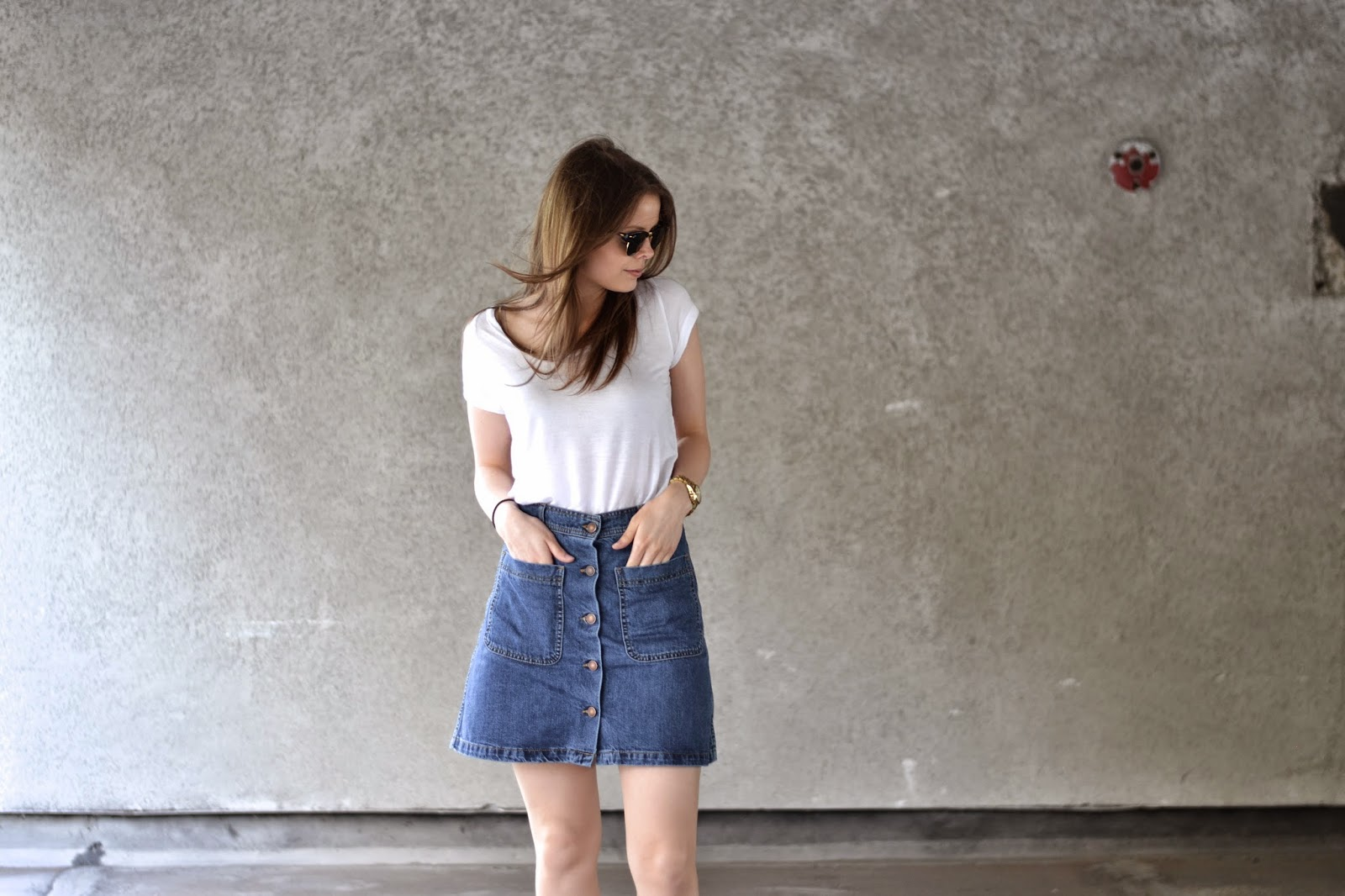 Button Down Denim Skirt | It's Lily Locket