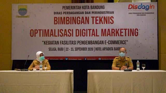 Dongkrak Perekonomian, Disdagin Kota Bandung Gelar Pelatihan Digital Marketing