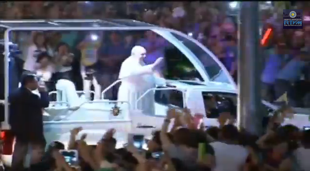 Pope Francis arrival in the Philippines