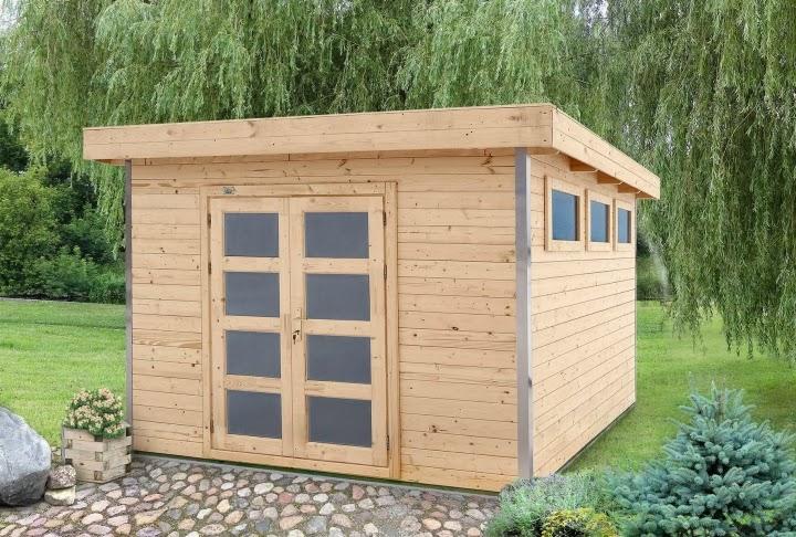 Cafe 39 europa casette di legno da giardino a tetto piano for Quanto costruire una casetta