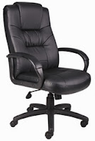 B7501 Black Leather Executive Chair by Boss