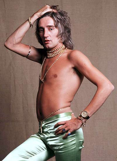 A picture of Rod Stewart looking ugly