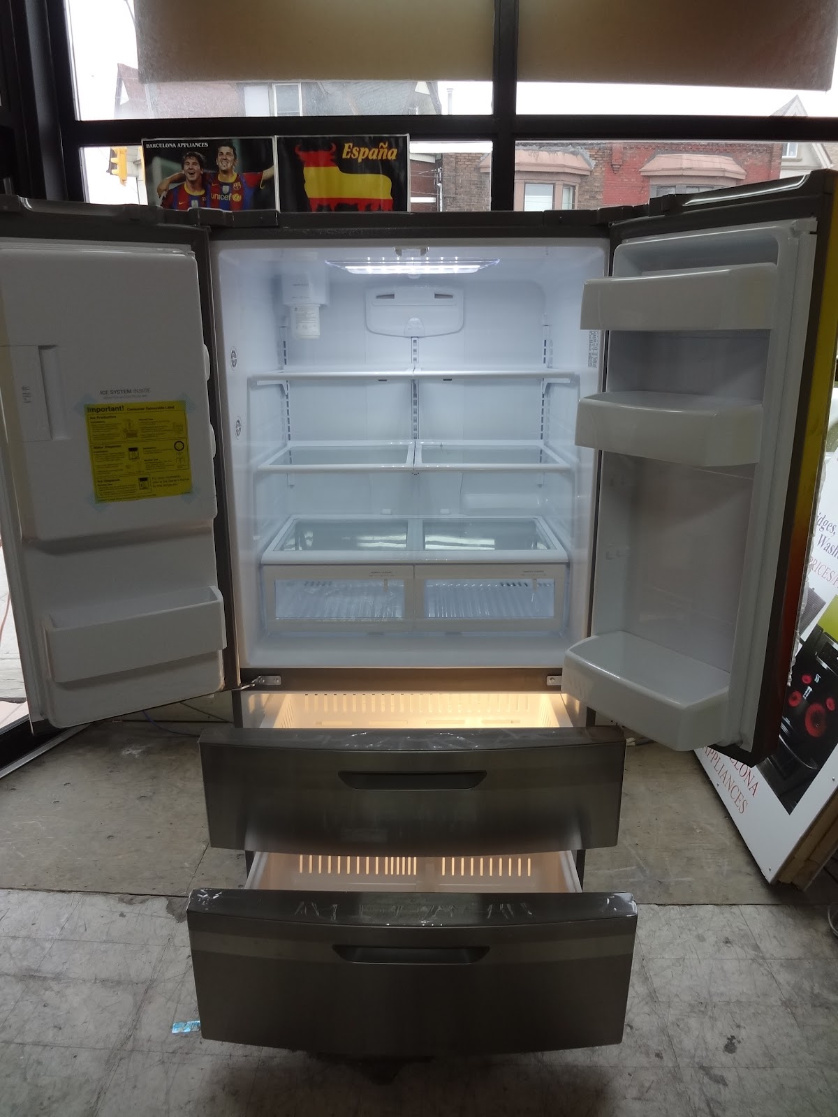 Refrigerators barcelona home appliances brand new lg stainless steel french door fridge model lfx25976st 247 cu ft 36 wide only 150000 rubansaba