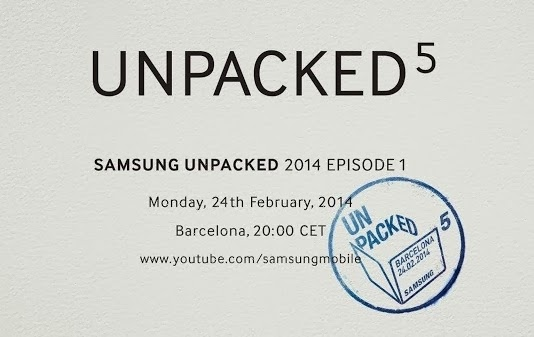 Unpacked 5, Samsung Galaxy S5 event invite