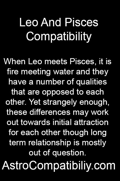 is a leo and pisces compatible for relationship