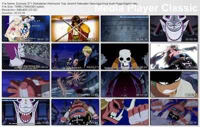 Download Film One Piece Episode 371 (Kekalahan Kelompok Topi Jerami! Kekuatan Sesungguhnya buah Kage Kage!) Bahasa Indonesia