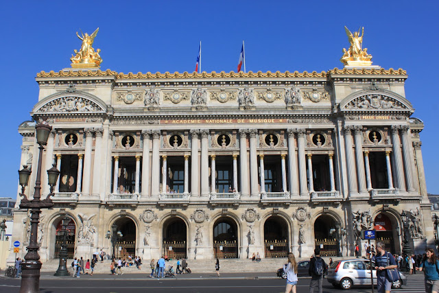 Rear view of Le Palais Garnier Opera House in Paris, France