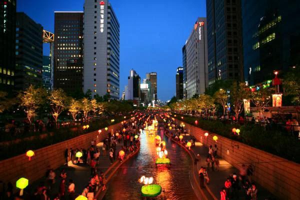 Seoul at night (South Korea)