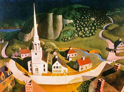 a look at the life and times of american regionalist painter grant wood American regionalist painter grant wood (1891-1942) only arrived at his signature mature style around 1930 in the remaining 12 years before his untimely death in 1942, wood produced several seminal works, although his total output was limited due to his teaching at the university of iowa and his role as director of public works of art projects in iowa.