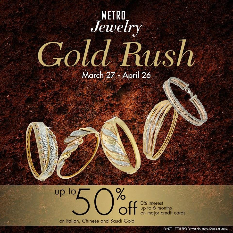 Manila Shopper Metro Stores Gold Rush SALE March 2015