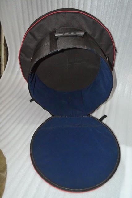 Tas snare, stick dan cymbal custom dengan bludru