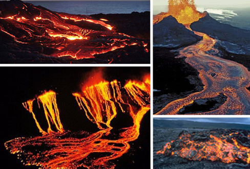 Immagini Vulcano Kilauea eruzione Isole Hawaii filmato video foto
