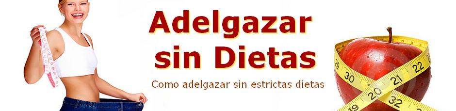Adelgazar sin dietas Dieta para Adelgazar