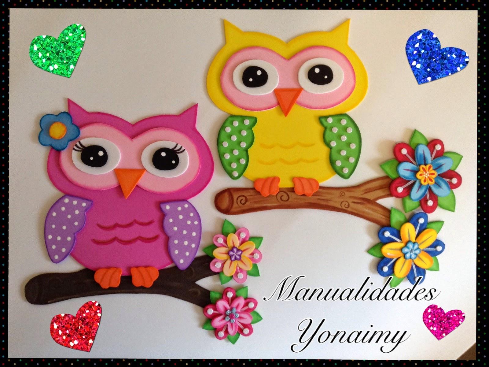 Manualidades yonaimy - Dibujos en goma eva ...