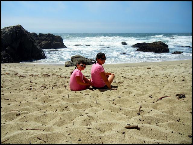 My sister and I in Bodega Bay, California