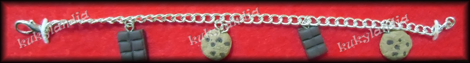 Pulsera dijes cookies y chocolate