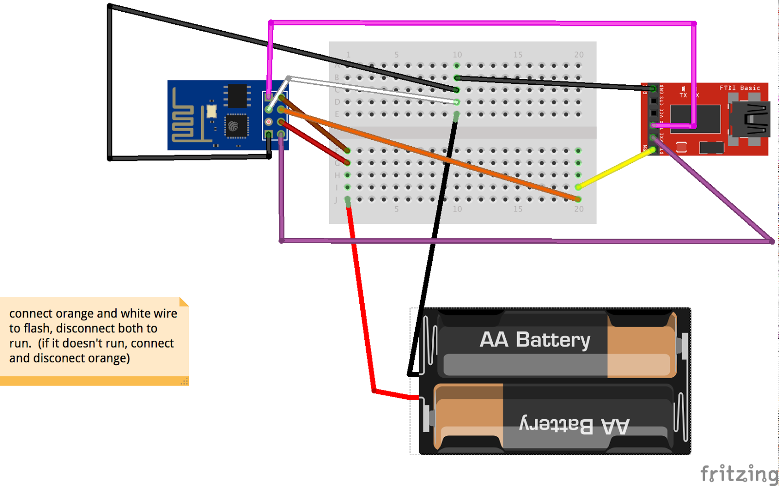 Getting Started With The Esp8266 01 Wifi And Cp2102 Usb To Uart Pin Diagram Now Lets Wire Up Esp Like So