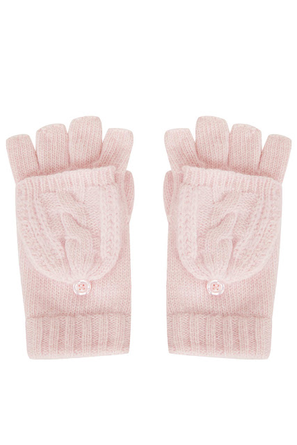 pale pink gloves