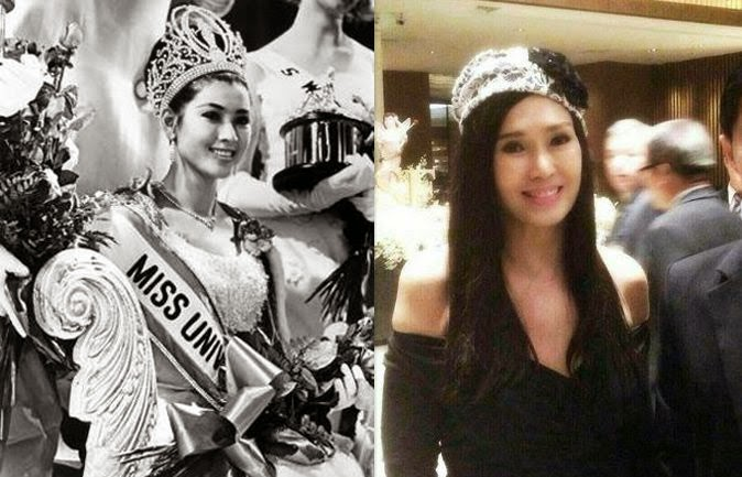 صورة وهي ملكة جمال العالم والآن