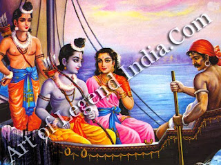 Ram sita and Laxman in boad