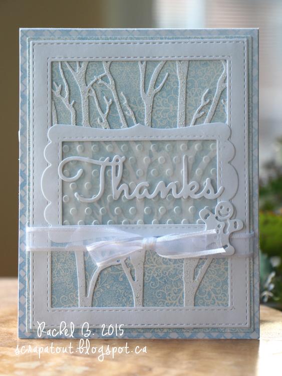 Handmade card, Winter, Thanks, Impression Obsession