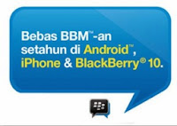 Paket Tri AOn Gratis BBM-an Setahun di Android, iPhone dan BB 10