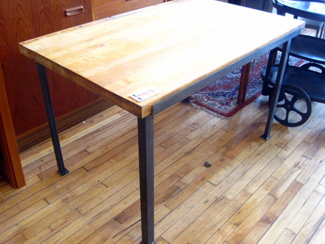 used butcher block tables submited images