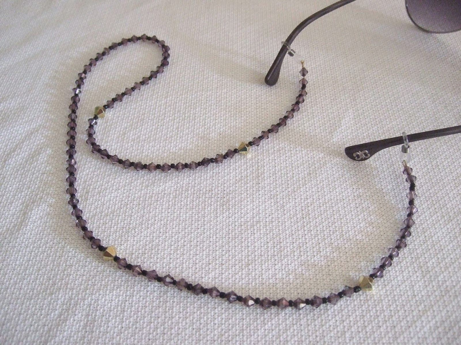 finished eyeglass lanyard strap