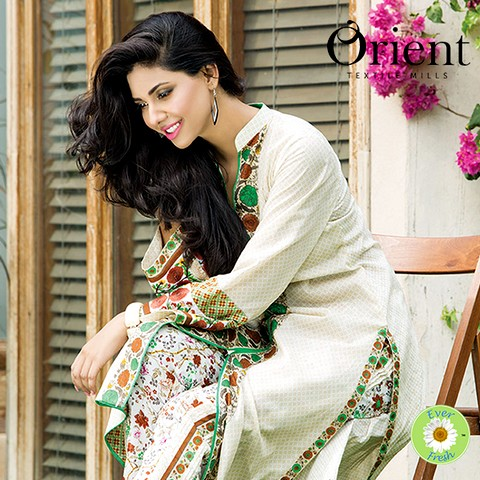 Orient Textile 2-PC Lawn Shirt Plus Trouser 2015-2016