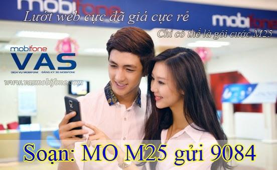 Đăng ký gói cước M25 của Mobifone