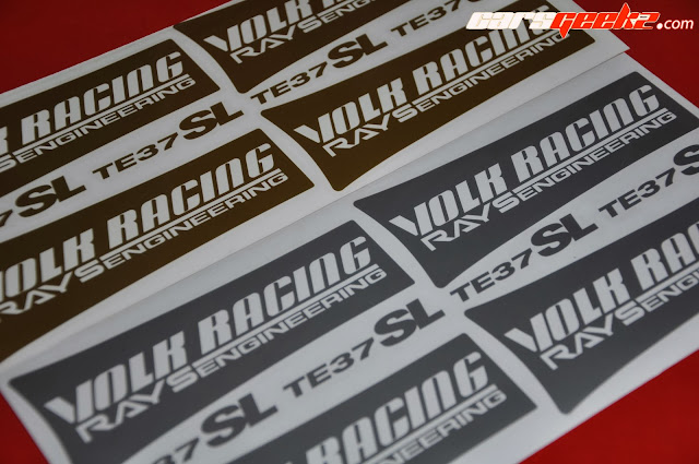 Volk Racing Rays Engineering TE37SL silver sticker