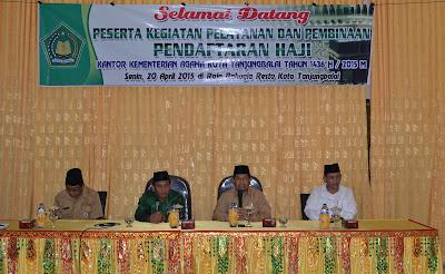 Kakankemenag Tanjungbalai Buka Kegiatan Pelayanan dan Pembinaan Pendaftaran Haji