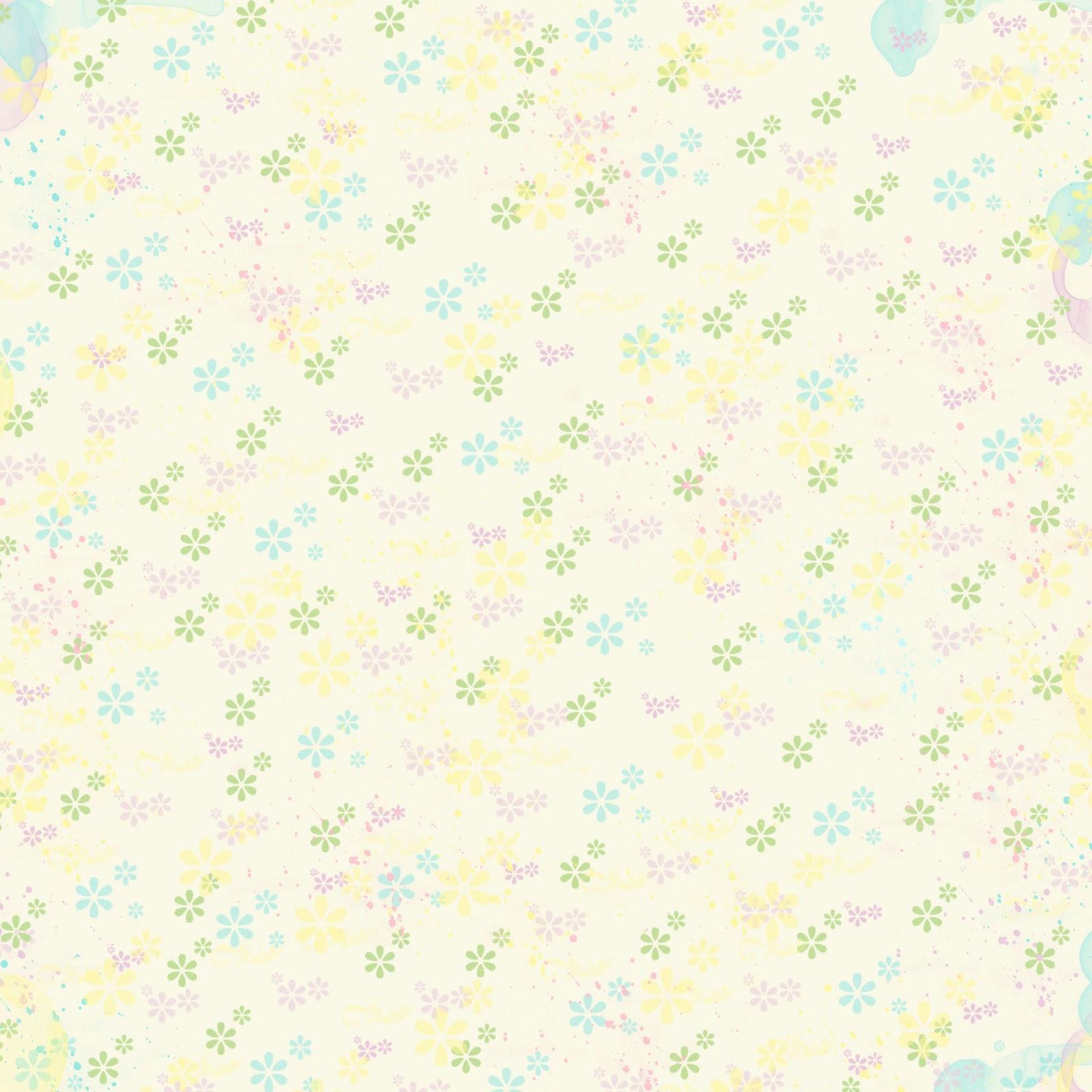 Stampin Damour Free Digital Scrapbook Paper Pastel Mini Flowers