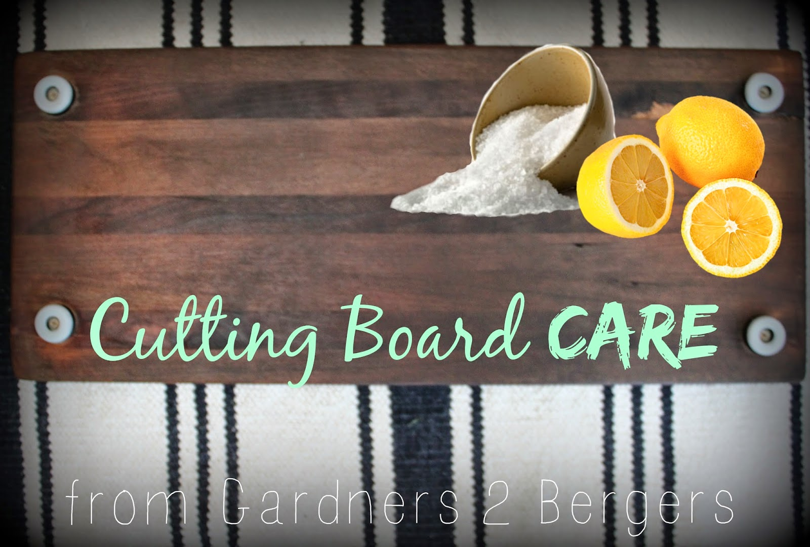 how to clean a cutting board with lemon