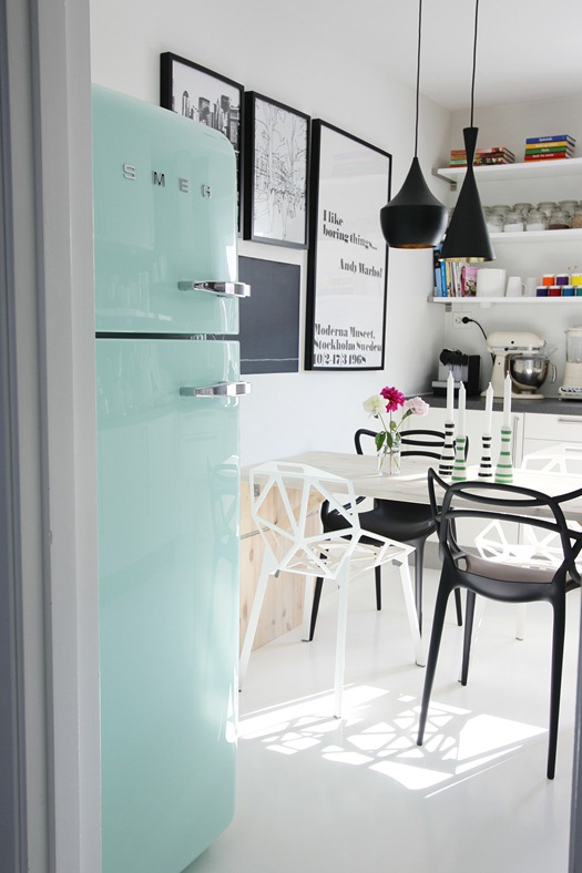 T d c blog love nordic leaves for Interieur frigo smeg
